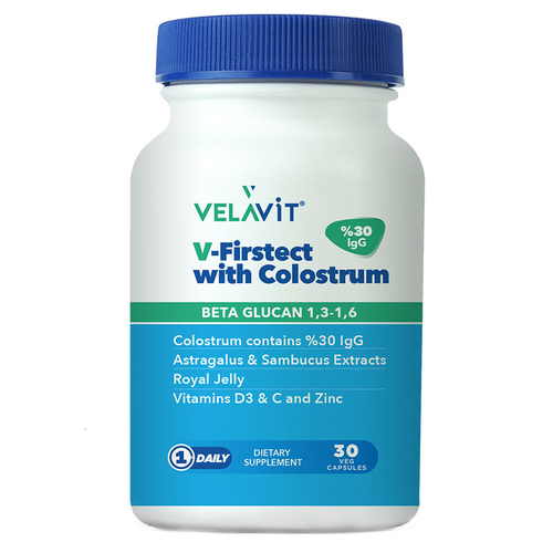 Velavit - Velavit V-Firstect with Colostrum Takviye Edici Gıda 30 Kapsül