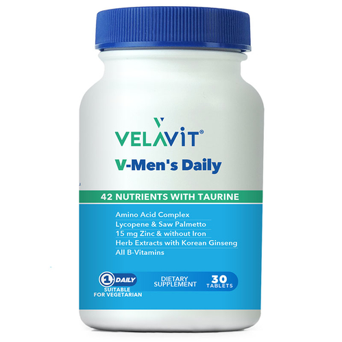 Velavit - Velavit V-Mens Daily Takviye Edici Gıda 30 Tablet
