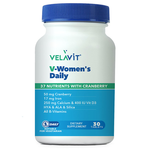 Velavit - Velavit V-Womens Daily Takviye Edici Gıda 30 Tablet