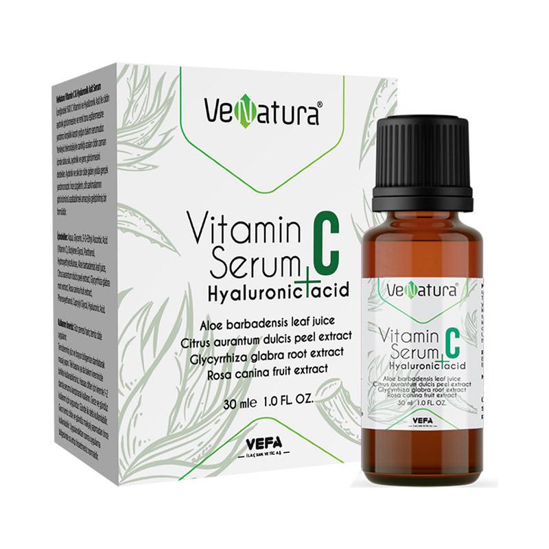 VeNatura - Venatura Vitamin C + Hyaluronic Acid Cilt Bakım Serumu 30 ml