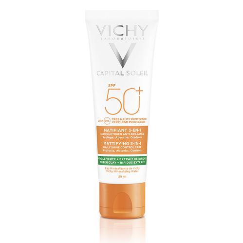 Vichy - Vichy Capital Soleil SPF 50+ Matlaştırıcı Yüz Güneş Kremi 50 ml