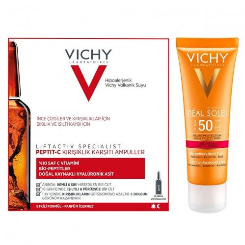 Vichy - Vichy Işıltısını Kaybetmiş Ciltler İçin Bakım ve Güneş Koruma Seti