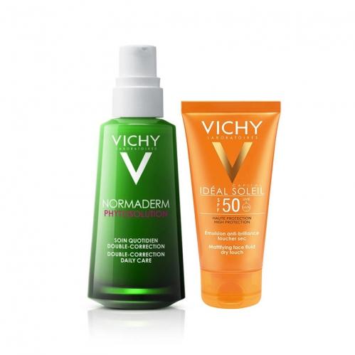 Vichy - Vichy Karma ve Yağlı Ciltler İçin Bakım ve Güneş Koruma Seti