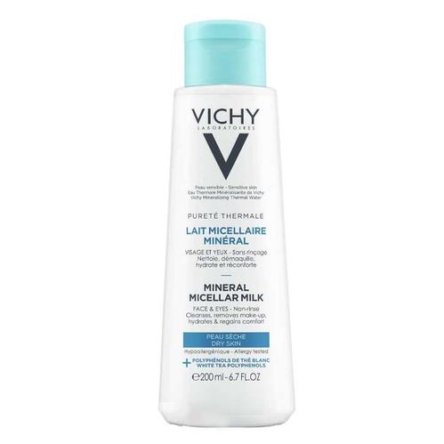 Vichy - Vichy Purete Thermale Mineral Micellar Milk 200 ml - Kuru ve Hassas Ciltler