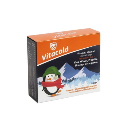 Vitacold - Vitacold Vitamin, Mineral Bitkisel Saşe Takviye Edici Gıda 20 Saşe