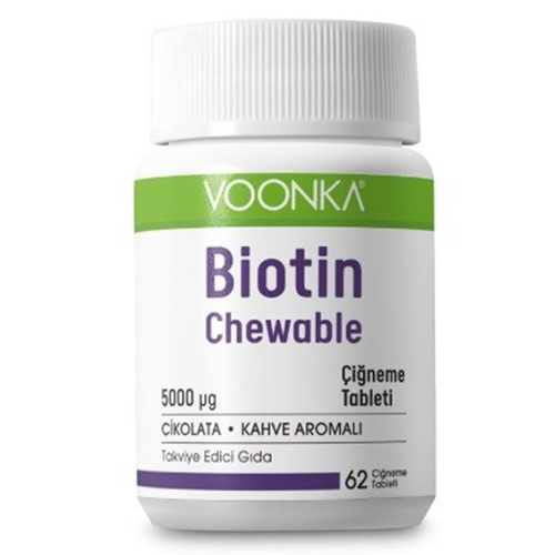 Voonka - Voonka Biotin Chewable Takviye Edici Gıda 62 Tablet