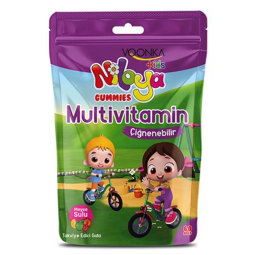Voonka - Voonka Kids Niloya Gummies Multivitamin Çiğnenebilir 60 Adet - Meyve Sulu