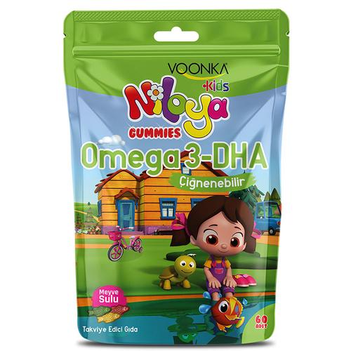 Voonka - Voonka Kids Niloya Gummies Omega 3 Çiğnenebilir 60 Tablet - Meyve Sulu
