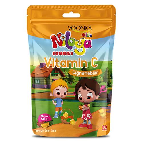 Voonka - Voonka Kids Niloya Gummies Vitamin C Çiğnenebilir 60 Tablet - Meyve Sulu