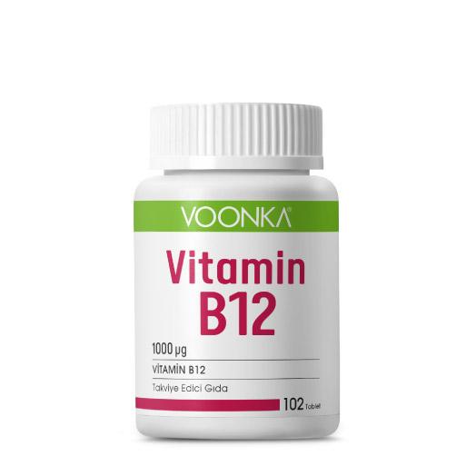 Voonka - Voonka Vitamin B12 İçerikli Takviye Edici Gıda 102 Tablet
