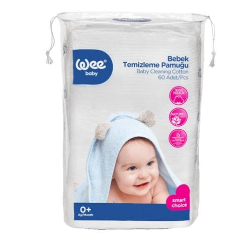 Wee Baby - Wee Baby Bebek Temizleme Pamuğu 60 Adet