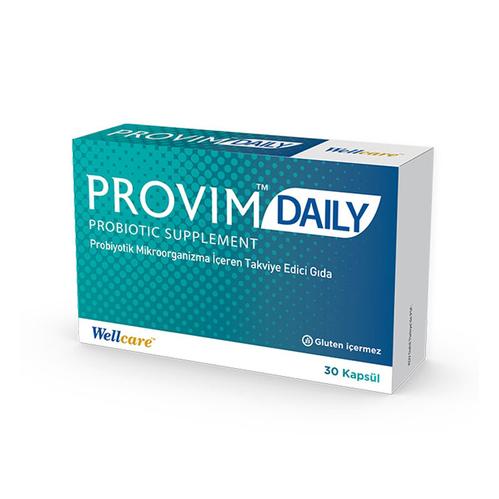 Wellcare - Wellcare Provim Daily Probiyotik Takviye Edici Gıda 30 Kapsül
