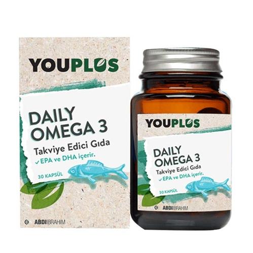 Abdi İbrahim - Youplus Daily Omega 3 Takviye Edici Gıda 30 Kapsül