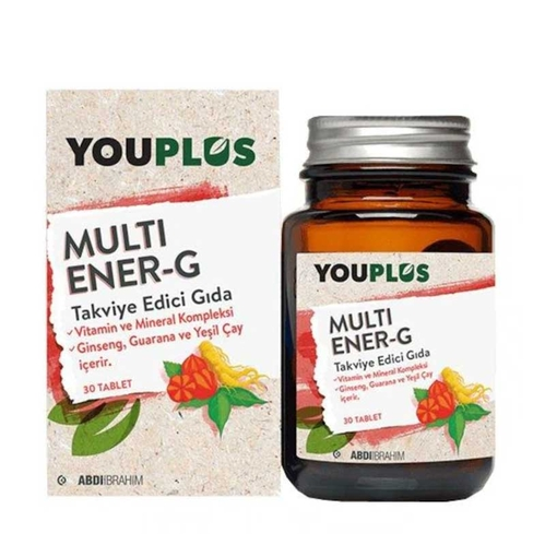 Abdi İbrahim - Youplus Multi Ener-G Takviye Edici Gıda 30 Tablet