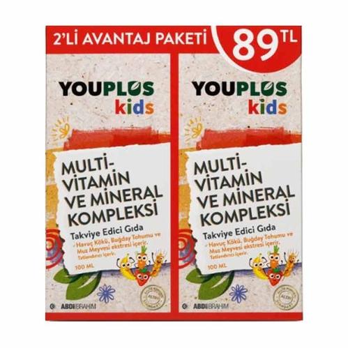 Abdi İbrahim - Youplus Multi Vitamin ve Mİneral Kompleksi 2 Li Avantaj Paketi