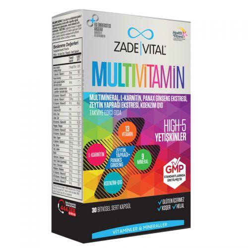Zade Vital - Zade Vital Multivitamin Takviye Edici Gıda 30 Bitkisel Kapsül