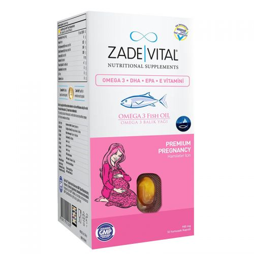 Zade Vital - Zade Vital Omega 3 Fish Oil Takviye Edici Gıda 50 Kapsül