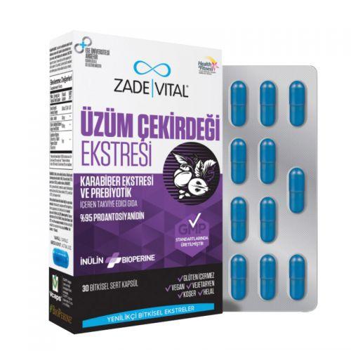 Zade Vital - Zade Vital Üzüm Çekirdeği Ekstresi 30 Bitkisel Sert Kapsül