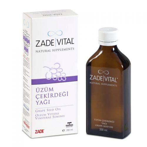 Zade Vital - Zade Vital Üzüm Çekirdeği Yağı - Sıvı Cam Şişe 200 ml