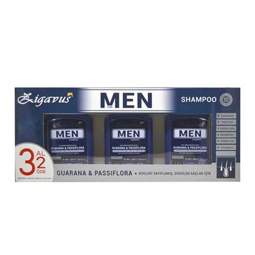 Zigavus - Zigavus Erkekler İçin Saç Dökülme Karşıtı Şampuan 300 ml 3 Al 2 Öde