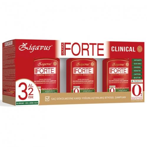 Zigavus - Zigavus Forte Ultra Clinical Saç Dökülmesine Karşı Bakım Şampuanı 3 Al 2 Öde Kuru ve Normal Saçlar
