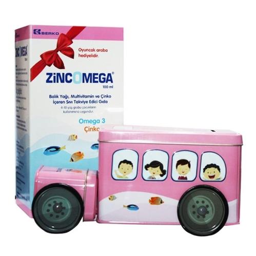 ZincOmega - Zincomega Oyuncak Araba Hediyeli Takviye Edici Gıda 100 ml - Kız