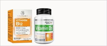 B12 ve D vitaminleri