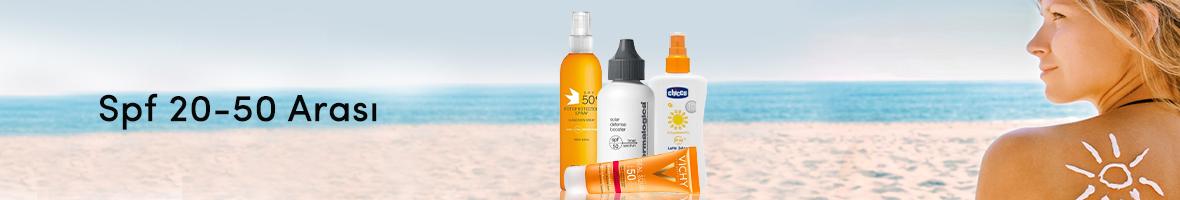 SPF20-50 Arası Güneş Ürünleri