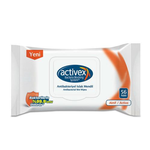 Activex - Activex Islak Mendil Aktif Kapaklı 56 Adet