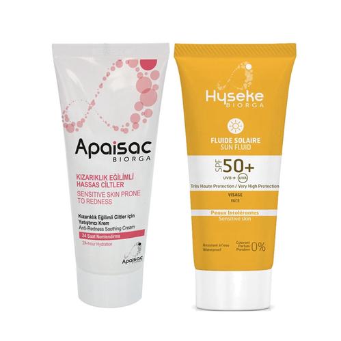 Biorga - Apaisac Biorga Soothing Anti-Redness Cream 40 ml | Intolerant Skin SPF 50+ Sun Fluid 40 ml HEDİYE