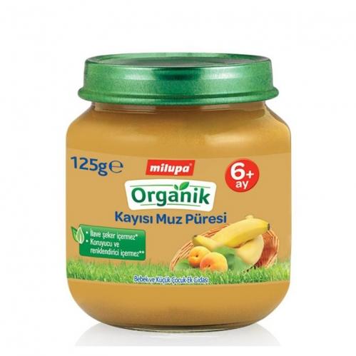 Nutricia - Milupa Organik Kayısı Muz Püresi 125 gr | +6 Ay