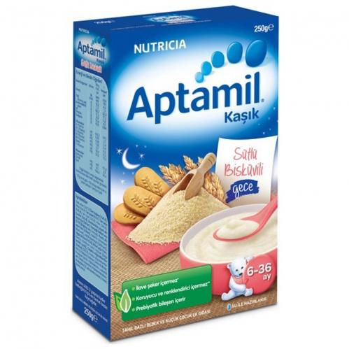 Nutricia - Aptamil Sütlü Bisküvili Kaşık Mama 250 gr | 6-36 ay