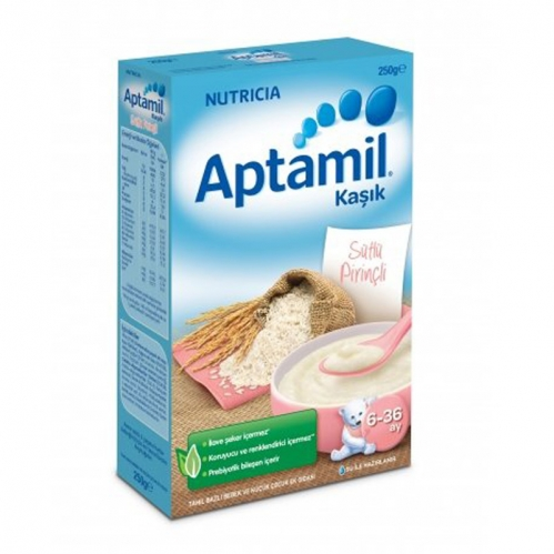 Nutricia - Aptamil Sütlü Pirinçli Kaşık Mama 250 gr | 6-36 ay