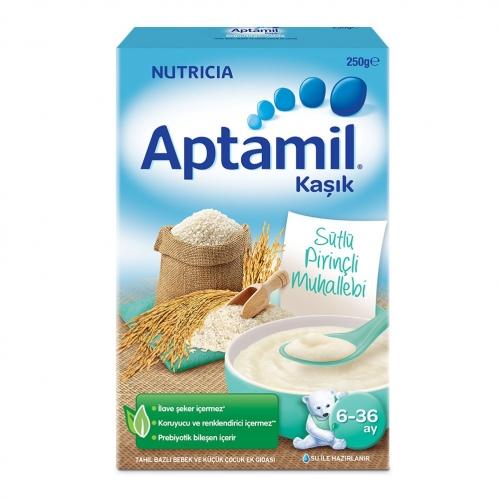 Nutricia - Aptamil Sütlü Pirinçli Muhallebi Kaşık Mama 225 gr | 6-36 ay
