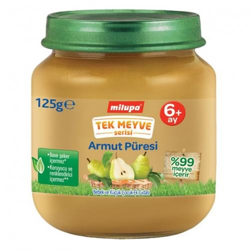 Nutricia - Milupa Tek Meyve Serisi Armut Püresi 125 gr | +6 Ay