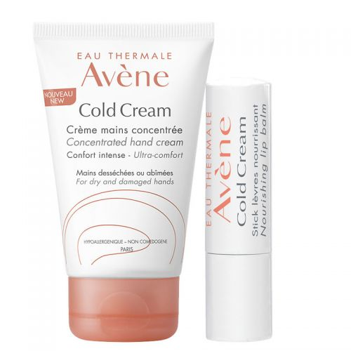 Avene Cold Cream Concentrated Hand Cream 50 ml & Avene Cold Cream Stick Levres Dudak Kremi