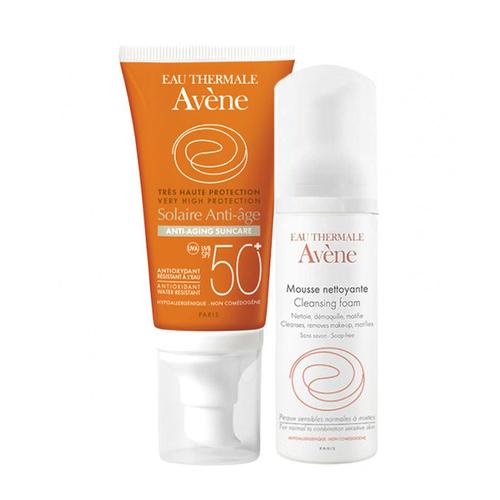 Avene Solaire Anti Age Spf50+ Güneş Kremi 50ml | Cilt Temizleme Köpüğü 50 ml HEDİYE