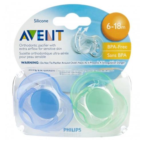 Avent - Avent Hava Delikli Ortodontik Emzik 6-18ay 2'li
