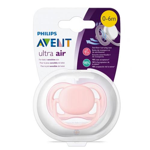 Avent - Avent Ultra Air Emzik 0-6 ay Pembe