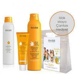 Babe - Babe Nemlendirici Global Güneş Bakım Kiti Spray&Go After Sun HEDİYE