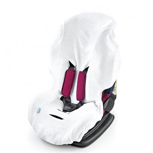 BabyJem - BabyJem Örme Havlu Oto Koltuğu Kılıfı - Beyaz Renk