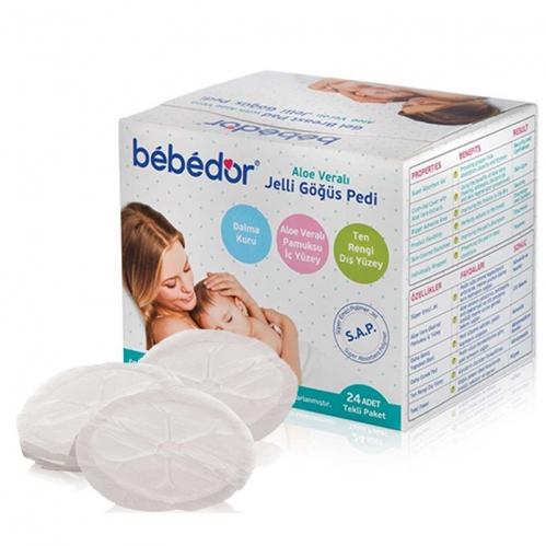 Bebedor - Bebedor Aloe Veralı Jelli Göğüs Pedi 24 Adet