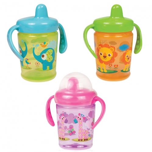 Bebedor - Bebedor Zoo Sert Uçlu ve Kulplu Alıştırma Bardağı +6 Ay