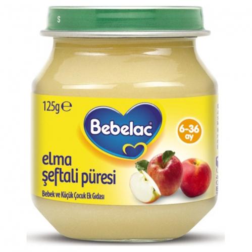 Nutricia - Bebelac Elma Şeftali Püresi 125 gr | +6 Ay