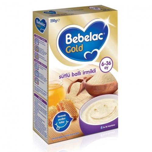 Nutricia - Bebelac Gold Sütlü Ballı İrmikli Kaşık Maması 250 gr | 6-36 ay