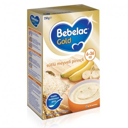 Bebelac - Bebelac Gold Sütlü Meyveli Pirinçli Kaşık Maması 250 gr | 6-36 ay