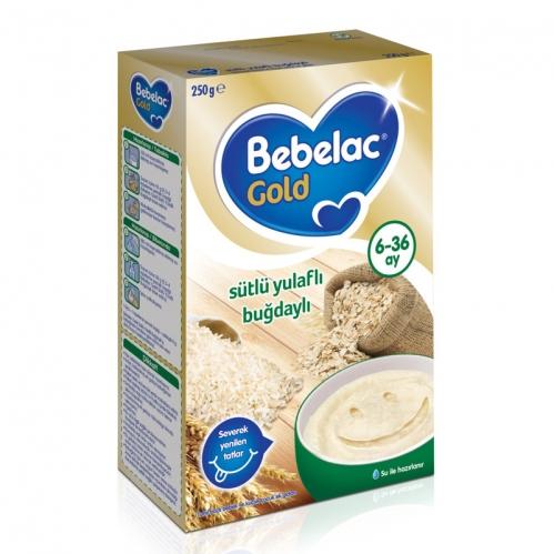 Nutricia - Bebelac Gold Sütlü Yulaflı Buğdaylı Kaşık Maması 250 gr | 6-36 ay