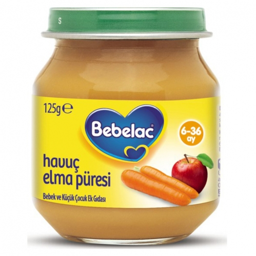 Nutricia - Bebelac Havuç Elma Püresi125 gr | +6 Ay