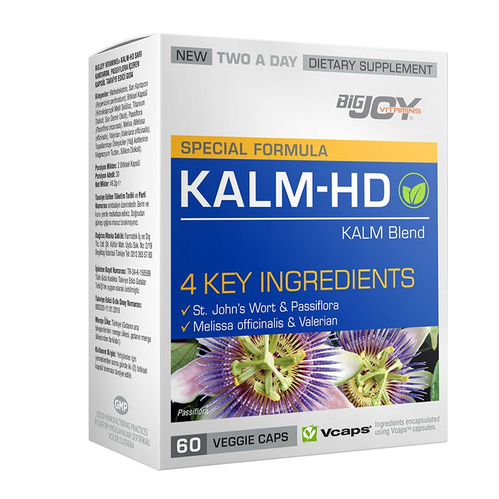 Bigjoy Vitamins - Bigjoy Special Formula Kalm-HD 60 Bitkisel Kapsül