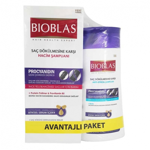 Bioblas - Bioblas Üzüm Çekirdeği Ekstresi Saç Dökülmesine Karşı Bakım Seti